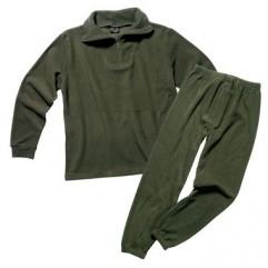 Согревающее флисовое термобелье Mil-Tec Thermofleece Underwear with zipper