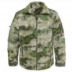 Флисовая мембранная куртка Mil-Tec Delta Jacket в расцветке MIL-TACS FG